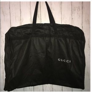 Gucci unisex foldable garment bag black travel